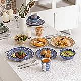 Vancasso Tafelservice Porzellan, Mandala 32 teiliges Essgeschirr Kombiservice, handbemaltes Geschirrset für 8 Personen, böhmischer Stil - 4