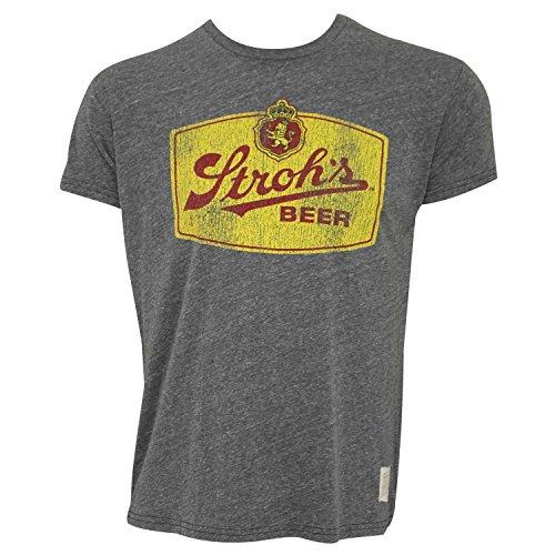Stroh's Retro Grey Tee Shirt X-Large
