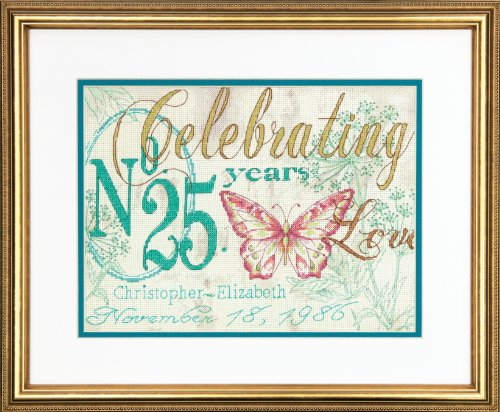 Dimensions Needlecrafts Counted Cross Stitch Kit by Kathryn White, Celebrating Anniversary Record