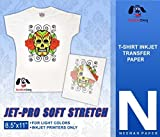 Jet-PRO SS JETPRO SOFSTRETCH Heat Transfer Paper 8.5 X 11' Custom Pack 100 Sheets