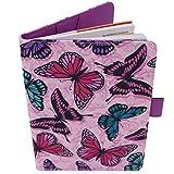 Porta Libretto Sanitario Neonato - Motivo a farfalla - Formato A5 15x20 cm - Alette per conservare le prescrizioni