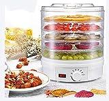 SHKUU Deshidratador Alimentos eléctrico, Dispositivo conservación Alimentos Digital Inteligente 5 Capas 9L Secador Carne Frutas con Ajuste Temperatura 8 Niveles Equipo Cocina para el hogar