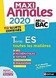 Maxi-annales ABC du Bac 2020 - Terminale ES (24)