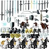 Goshfun 75Pcs Custom Ancient Greek Ancient Roman Medieval Figure Weapon Armor Set, Small Particle Building Bricks Toy Kit