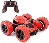 Rimila - Coche teledirigido 4 WD Stunt Car, 2,4 GHz, Mando a Distancia para Coche Acrzaic, rotación de 360 Grados (no Incluye Pilas) Rojo Rojo