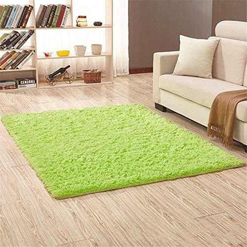 RUGMYW Bonitas Alfombra habitación Matrimonio Color sólido Verde cifrado Alfombra pie de Cama 50X80cm