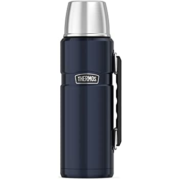 """Thermos Stainless King 40 Ounce, Midnight Blue 40OZ Beverage Bottle, 3.7"""" x 4.4"""" x 12.1"""""""