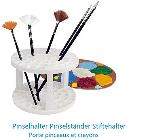 Porta-pinceles y lápices - En color crema - Ø 14,5cm - 49 compartimentos - EMI Craft