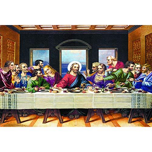 CSYY-YJ Ultima Cena d'Arte Puzzle 500/1000/1500/2000/3000/4000/5000/6000 Pz, Puzzle di Legno la Decorazione Domestica, Giocattoli educativi Giochi per Adulti e Bambini,500PCS