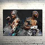 Hao Sai's shop Pintura Sin Marco Arte De Pared Conor Mcgregor UFC Motivacional Boxeo Cuadro De Seda O Lienzo Imagen para Decoración De Sala De Estar A21 40X60Cm Sin Marco