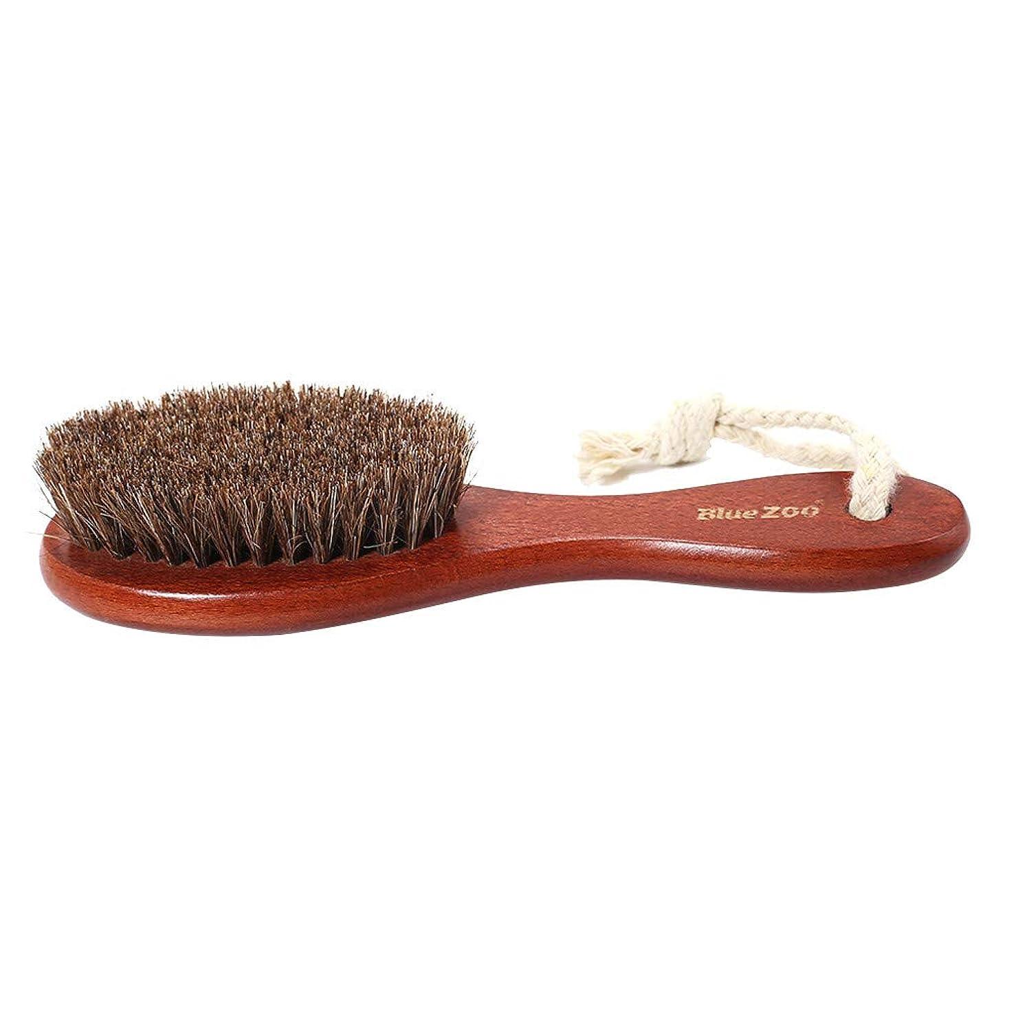 極めてシンプトン芽メイクブラシ 化粧ブラシ 男性 猪毛 剛毛 あごひげ 口ひげブラシ 男性 ボディブラシ シューズブラシ 肌 ケア シャオメイスター