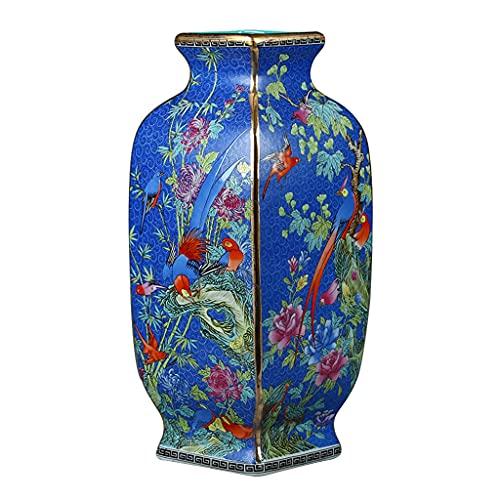 WLN Jarrón De Flores De Porcelana De Jarrón De Porcelana Antigua Antiguo Florero De Porcelana...