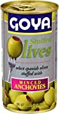 Goya Foods Manzanilla Olives Stuffed with Anchovies, 5.25 Ounce (Pack of 12)...