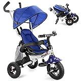 UBRAVOO 6 en 1 Triciclo Bebes Evolutivo Plegable, Cochecito Bebes, Triciclos Trike, Bicicleta de Aprendizaje para Niños de 1 año a 5 Años, Azul