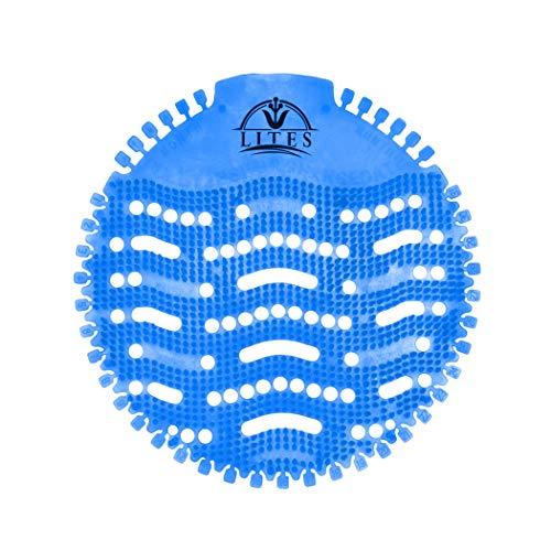 (30 PACK) Urinal Screens Deodorizer, Urinal Cake, Anti-Splash & Odor Freshener, Scent Lasts for Up to 5000 Flushes –Ideal for Bathrooms, Restrooms, Office, Restaurants, Schools… (Blue)
