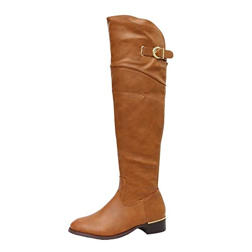 d0b06002d17 SHU CRAZY Womens Ladies Faux Leather Stretch Buckle Detail Low Block Heel  Zip Up Winter Riding