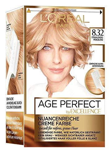 L'Oréal Paris Excellence Age Perfect 8.32 strahlendes perlblond 1er Pack (1 x 1 Stück)