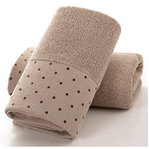 Badhanddoek Verdikking Katoenen handdoek Badmat Volwassen wassen Groot gezicht Handdoek Wateropname Verhogen Sport Fitness Washandje 35x76cm-bruin