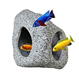 SpringSmart Aquarium Hideaway Rock Cave for Aquatic Pets to Breed, Play and Rest, Safe and Non-Toxic Ceramic Fish Tank Ornaments, Decor Stone for Betta