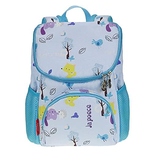 Japoece Kinderrucksack Leichter Cartoon Mode Junge Mädchen Kindergartenrucksack Kindergartentasche 2-5 Jährige Vorschulrucksack Kindertasche mit Brustgurt Schultasche (Hellblau - Fuchs)