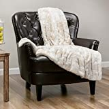Chanasya Super Soft Fuzzy Faux Fur Throw Blankets - Fluffy Plush Lightweight Cozy Snuggly with Sherpa for Couch Sofa Living Room Bedroom - Brown Fall & Winter Home Decor (50x65 Inches) Taupe Blanket