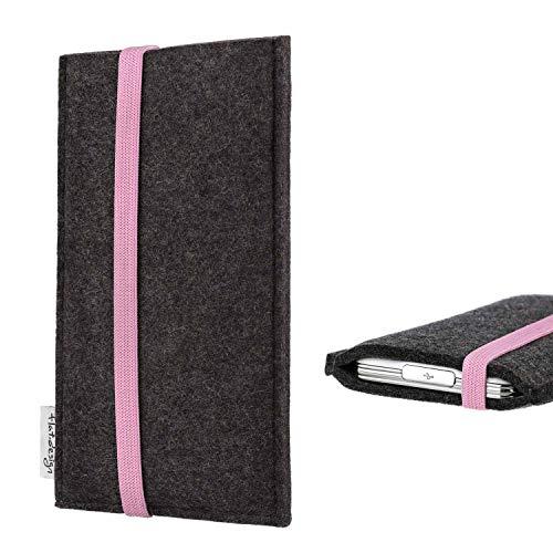 flat.design vegane Handy Tasche Coimbra für Xiaomi Redmi Note 7 Global - Schutz Hülle Tasche Filz vegan fair rosa