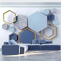 Iusasdz カスタム壁画壁紙モダン3Dステレオ抽象芸術幾何学的写真壁画リビングルーム寝室背景壁装材-250X175Cm