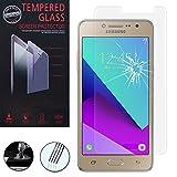 AnnaRT® [1 pieza Protector de pantalla de cristal templado para Samsung Galaxy Grand Prime Plus J2 Prime, transparente