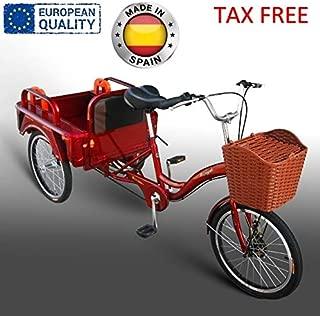 Beer Bike Triciclo Adulto con almacenaje Disponible en Color