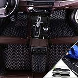 Handao-US Alfombrillas en Velour para BMW 7 Series F01 F02F03F04E23E32E38E65E66G11 G13 G22G12730i740i750i740Li745li750li760i 2009-2012 Alfombrillas de Coche Negro