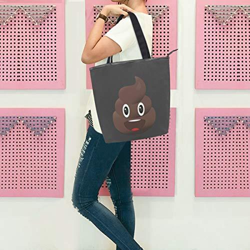 GIGIJY - Bolso grande para mujer, diseño de caca con emojis
