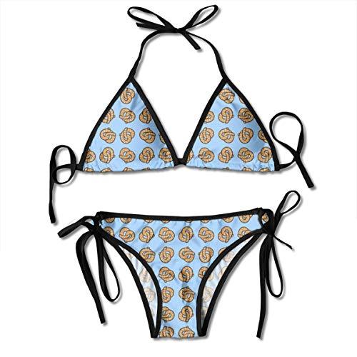 Fun Life Art Tanzen Brezel Damenmode Bikini Bademode Sexy Badeanzug Strand Schwimmen Anzug