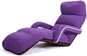 LJBH Lazy Couch Foldable Sofa Chair Tatami, Single Sofa Chair Folding Chair Window Chair comfortable, no fading (Color : P...