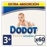 Dodot Sensitive Pañales Talla 3+, 60 Pañales - 7 kg - 11 kg
