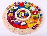 Calendario Madera Waldorf Montessori 33 cm con Figuras. Juego Educativo para Niños