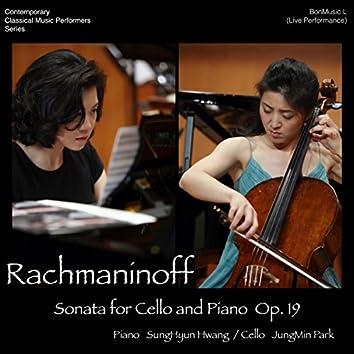 Rachmaninoff Sonata for cello and piano, Op. 19