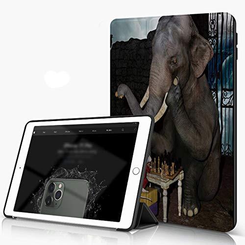 She Charm Funda para iPad 9.7 para iPad Pro 9.7 Pulgadas 2016,Elefante Animal y ratón Jugando al ajedrez,Incluye Soporte magnético y Funda para Dormir/Despertar