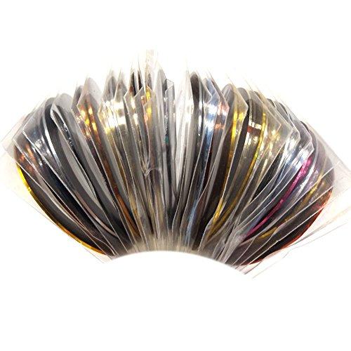Chaud Fille Mix Couleurs métallique rouleaux striping tape Line Sticker DIY Nail Art Décoration Manucure Outils