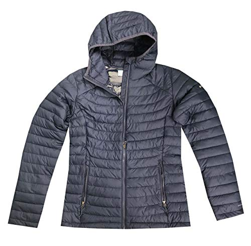 Columbia Women's White Out ll Omni Heat Hooded Jacket Puffer (M, Navy)