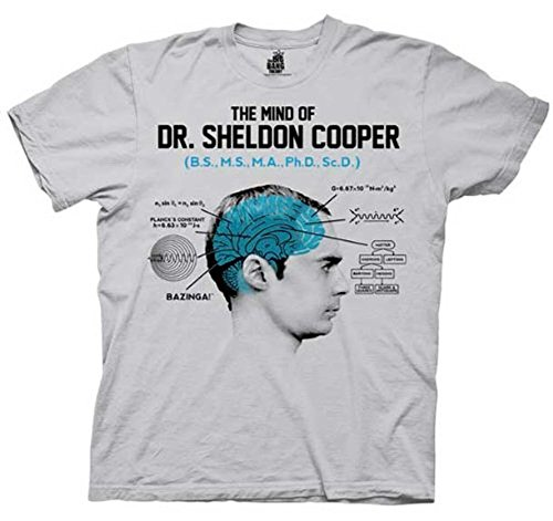 The Big Bang Theory The Mind of Dr. Sheldon Cooper Ice Grau Herren T-shirt (XX-Large)