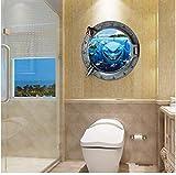 Newberli Décorations Pour La Maison Hublots Sous-Marins Monde Sous-Marin Sticker Mural Stickers Pour La Maison Sticker Mural Déco Home Deco Miroir
