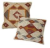 Handicraft.bazarr - Funda de cojín de yute tejida a mano, 45,7 x 45,7 cm, funda de...