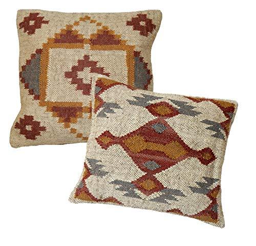 Handicraft.bazarr - Funda de cojín de yute tejida a mano, 4