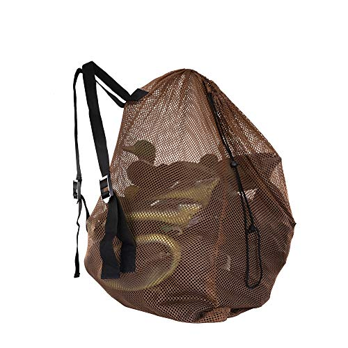 Ikerall Mesh Decoy Bag 1-Pack Hunting Bags Mesh for Duck/Turkey/Waterfowl/Goose/Drake/Marllard Hunting, Gear Decoy Backpack Light Weight Blind Bag with Adjustable Shoulder Straps (size:86 x 75 cm )