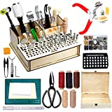447 Pieces Leather Working Tools and Supplies with Instruction, Leathercraft Tools Kit, Leathercraft Tools...