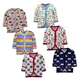 NammaBaby Baby Boys' & Baby Girls' T-Shirt (Pack of 6) (1987654321_Multicolored_0-3 Months)