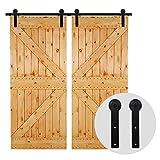 274cm/9FT Schiebetürsystem Schiebetürbeschlag Laufschiene Schiebetür, schiebetürbeschlag holztür - Sliding Barn Wood Door Hardware For Double Door