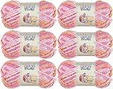 Best Baby Yarns - Bernat Baby Blanket Yarn-6/Pk-Peachy, 6/Pk, Peachy 6 Pack Review