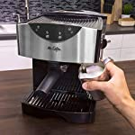 Mr. Coffee Automatic Dual Shot Espresso/Cappuccino System 17 15-bar pump system uses powerful pressure to extract a dark, rich espresso brew Frothing arm makes creamy froth to top off your cappuccinos and lattes Make 2 single shots at once with dual-shot brewing. Watts: 1250
