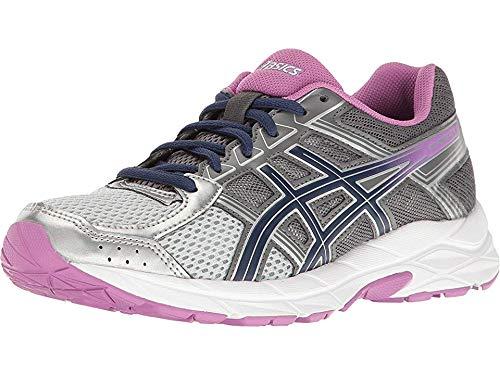 ASICS Women's Gel-Contend 4 Running Shoe, Silver/Campanula/Carbon, 4 UK